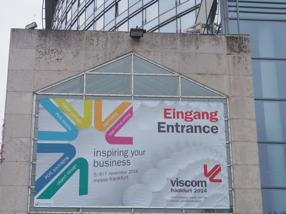 Eingang der Viscom 2014 (Foto: invidis.de)