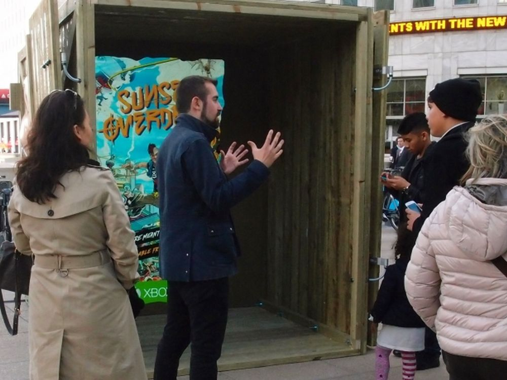 Sunset Overdrive: Xbox AR-Kampagne in London (Foto: JCDecaux UK)