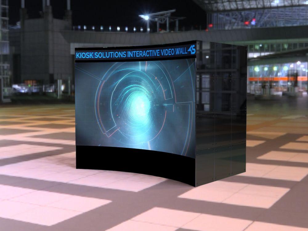 Kiosk Solutions: Messepremiere mit 3D 4K Video Wall (Foto: Kiosk Solutions)