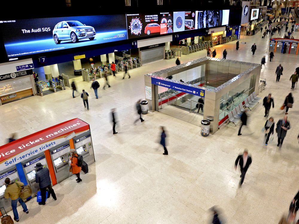 Audi-Kampagne an der Waterloo Station (Foto: JCDecaux UK)