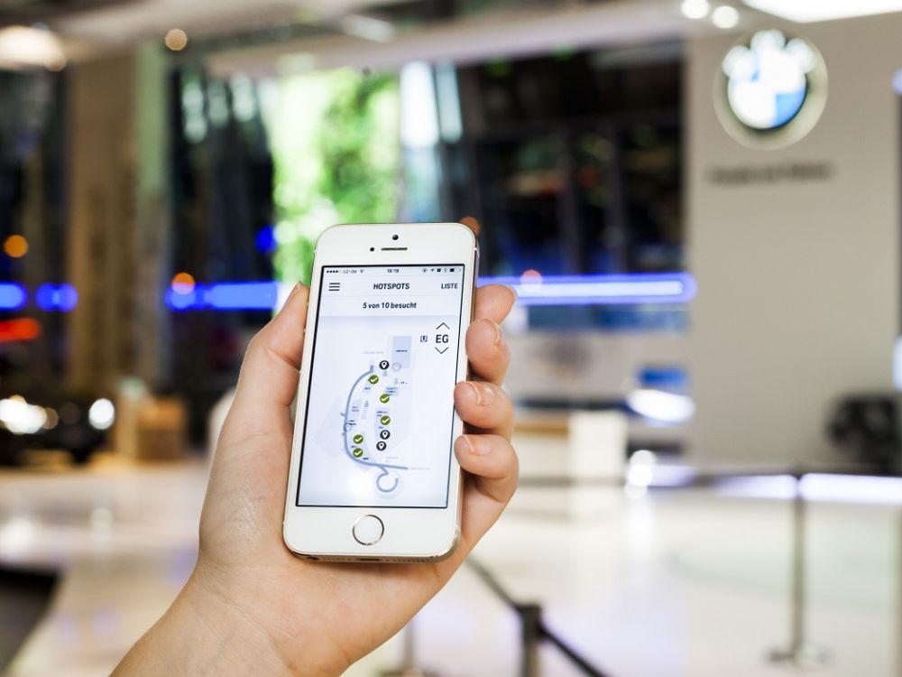 BMW Welt: Neue iPhone-App mit iBeacon (Foto: BMW)