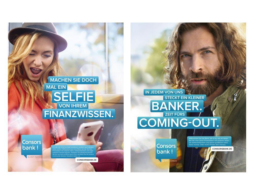Neue Consors Bank: Motive der Kampagne zum Markenrelaunch (Fotos: Serviceplan)