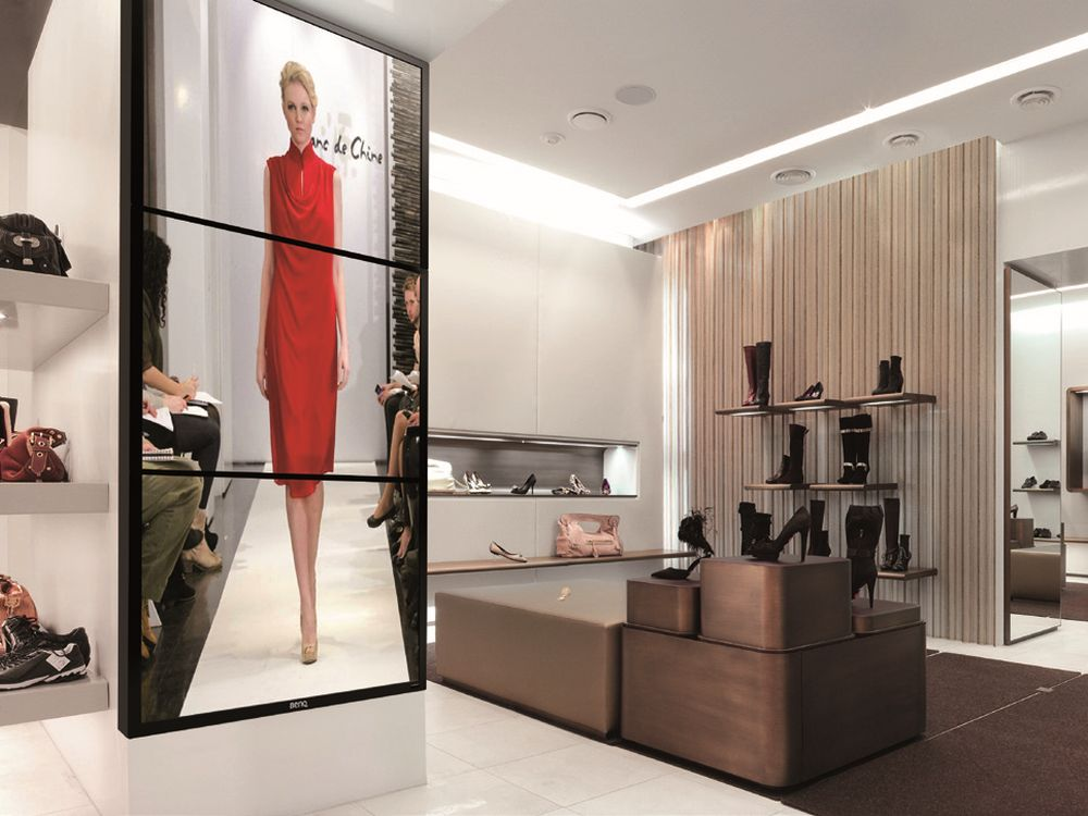 Digital Signage-Display SL461A im Retail-Einsatz (Foto: BenQ)