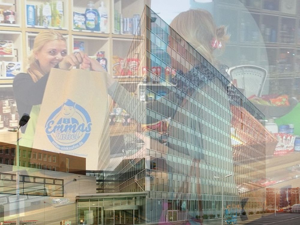 Metro beteiligt sich an Emmas Enkel: Ladengeschäft und Konzernzentrale (Fotos. Emmas Enkel, Metro Group; Montage: invidis.de)