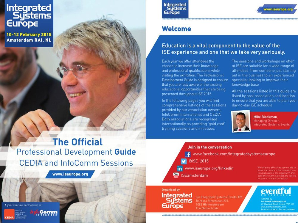 ISE 2015 - The Official Professional Development Guide (Image: invidis)