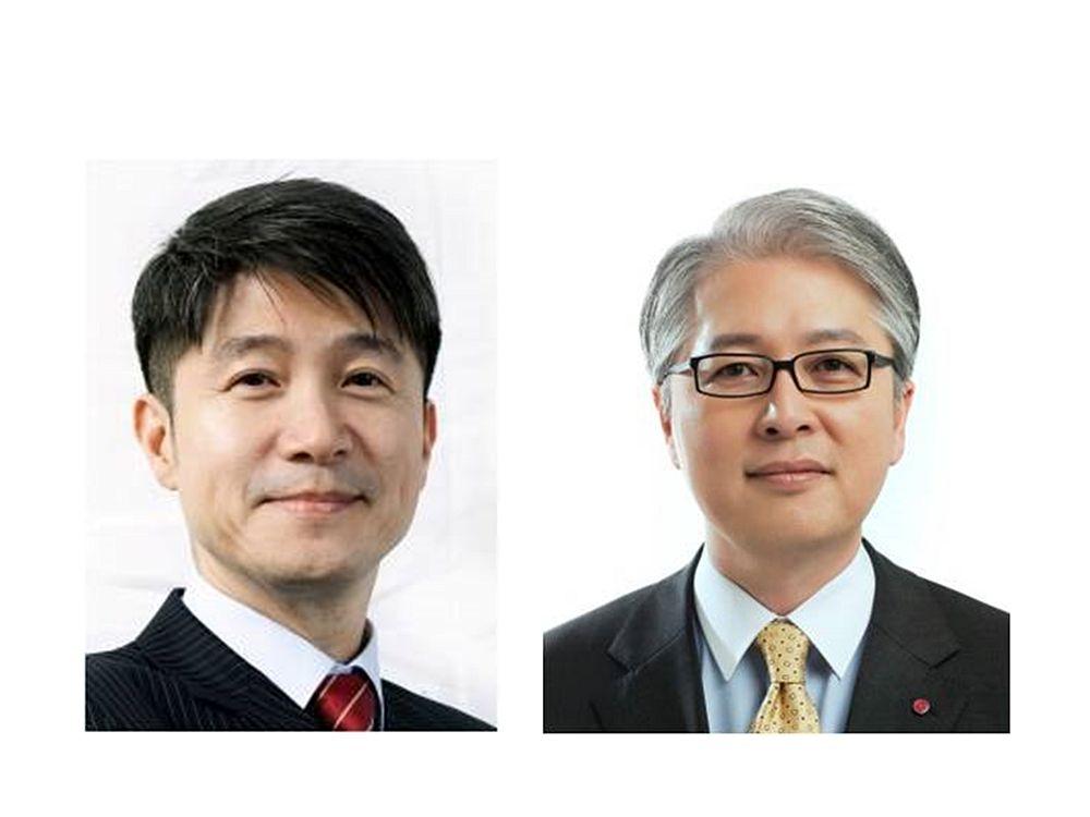 LG-Führungskräfte Juno Cho (l.) und Bong-suk Kwon (r.) steigen auf (Fotos: LG)