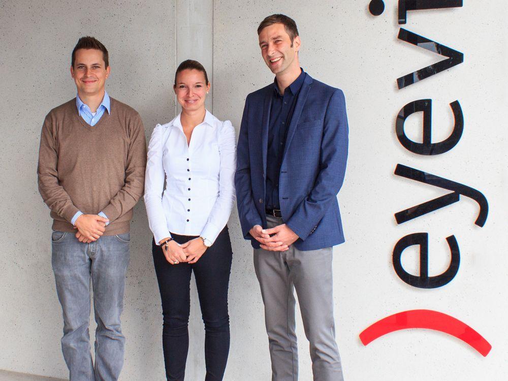 V.l.n.r.: Kai Schönberg, Sabrina Raschke und Rainer Likn (Foto: Eyevis)