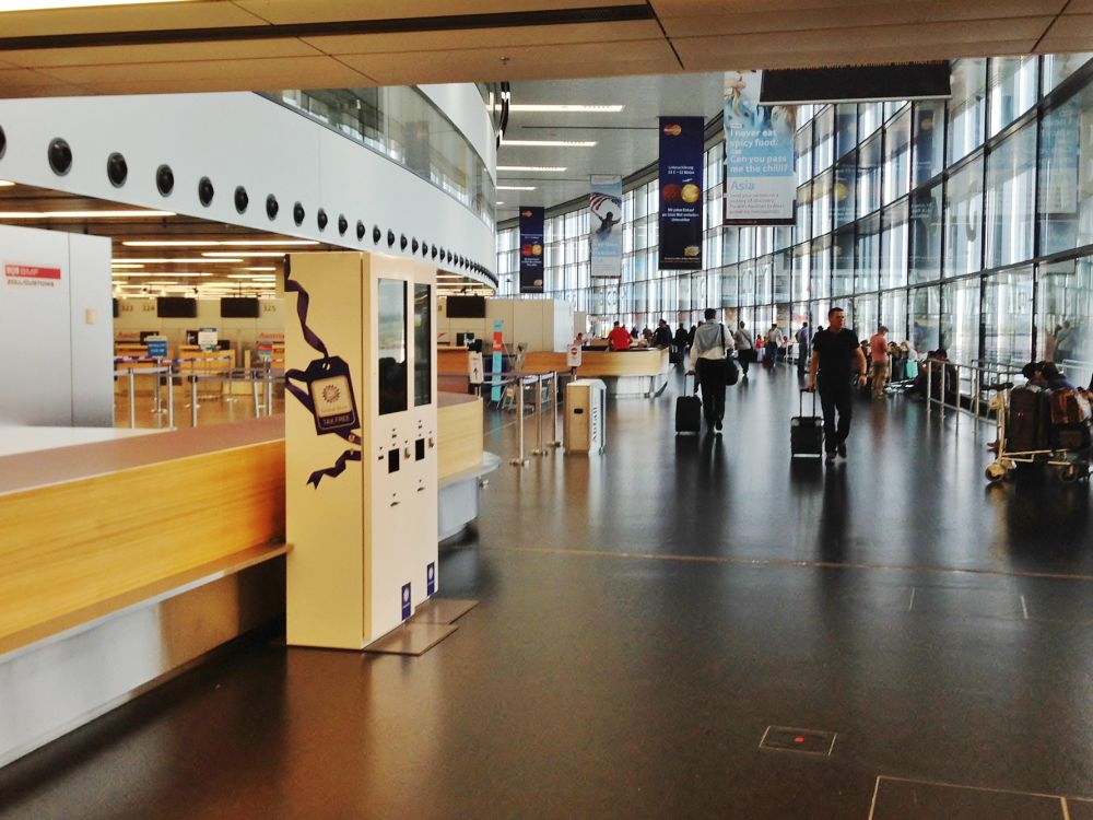 Kiosk für Steuererstattung am Flughafen in Wien (Foto: Kiosk Solutions)
