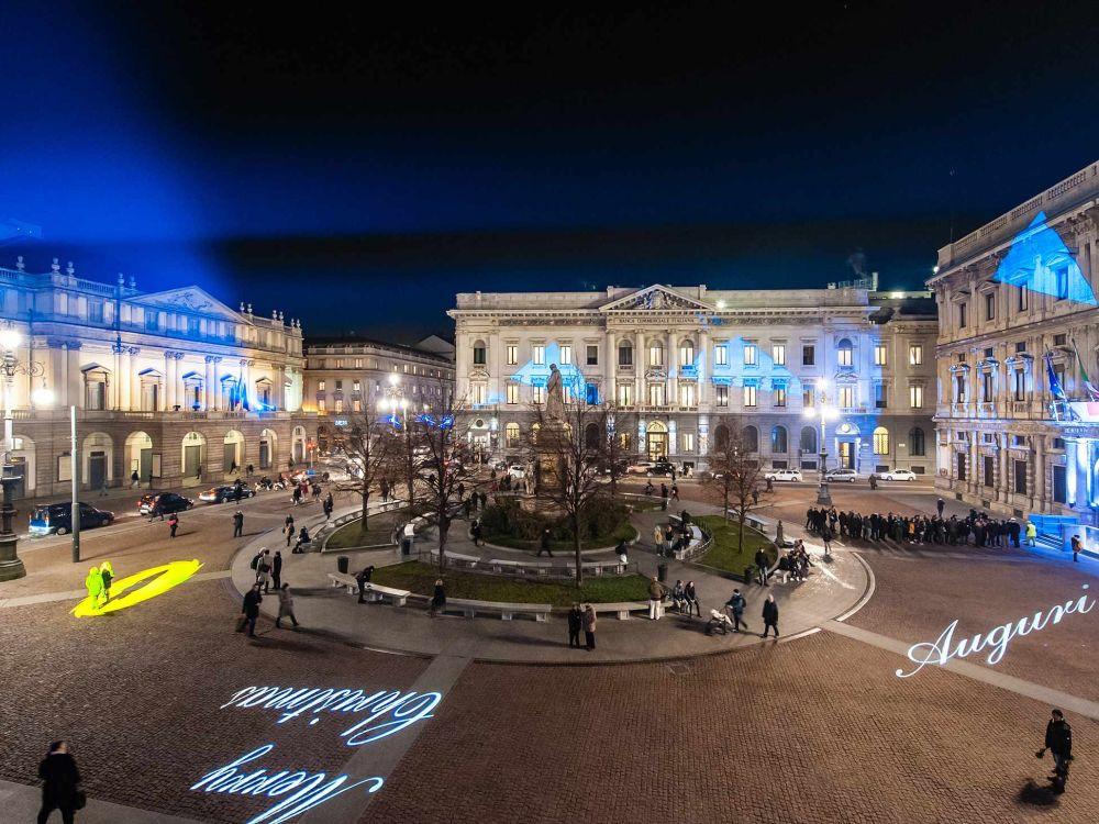 Piazza della Scala beim Polvere di Stelle (Foto: Matteo Vecchi/ Clay Paky)