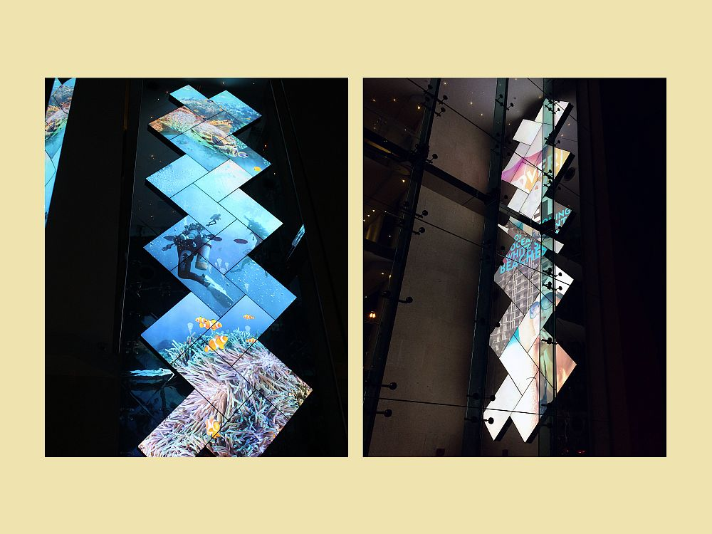 Neue Mosaic Video Wall in Miami (Fotos: BusinessWire)