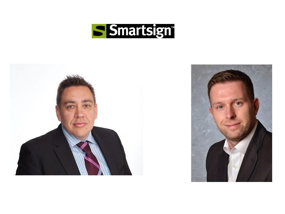 Smartsign: Neuer CEO Martin Romanowski Neuer CEO Martin Romanowski (l.), DA Country Manager Michael Moran (Fotos; Grafik: Smartsign)