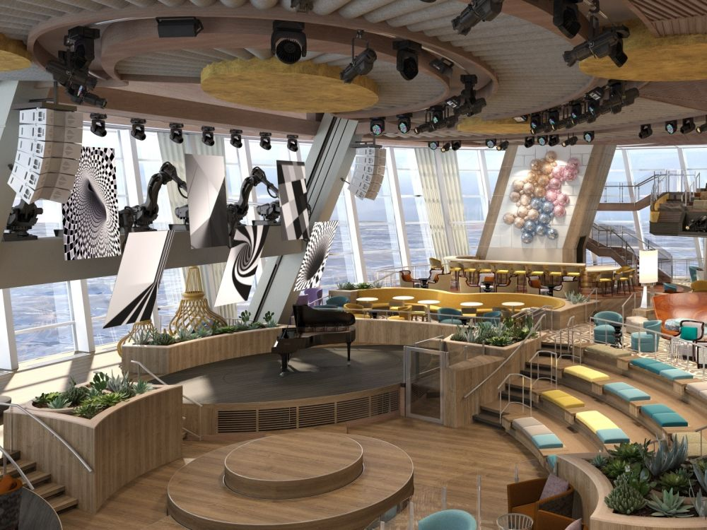 "Two70°: 110"" große Robo-Screens (Foto: Royal Caribbean International)"