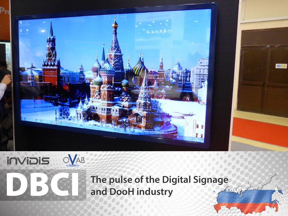 Digital Signage at IS Russia (Image:invidis)