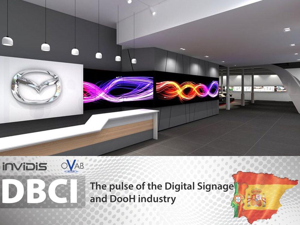 Digital Signage in the new Mazda Showroom in Barcelona (Image: Mazda)