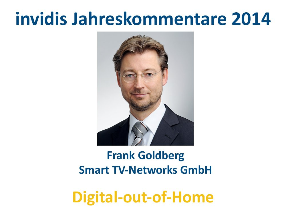 DooH-Jahreskommentar 2014: Frank Goldberg, Smart TV