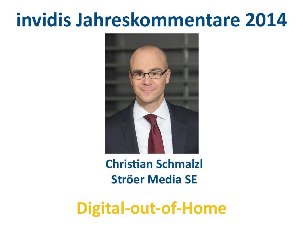 DooH-Jahreskommentar 2014: Christian Schmalzl, Ströer