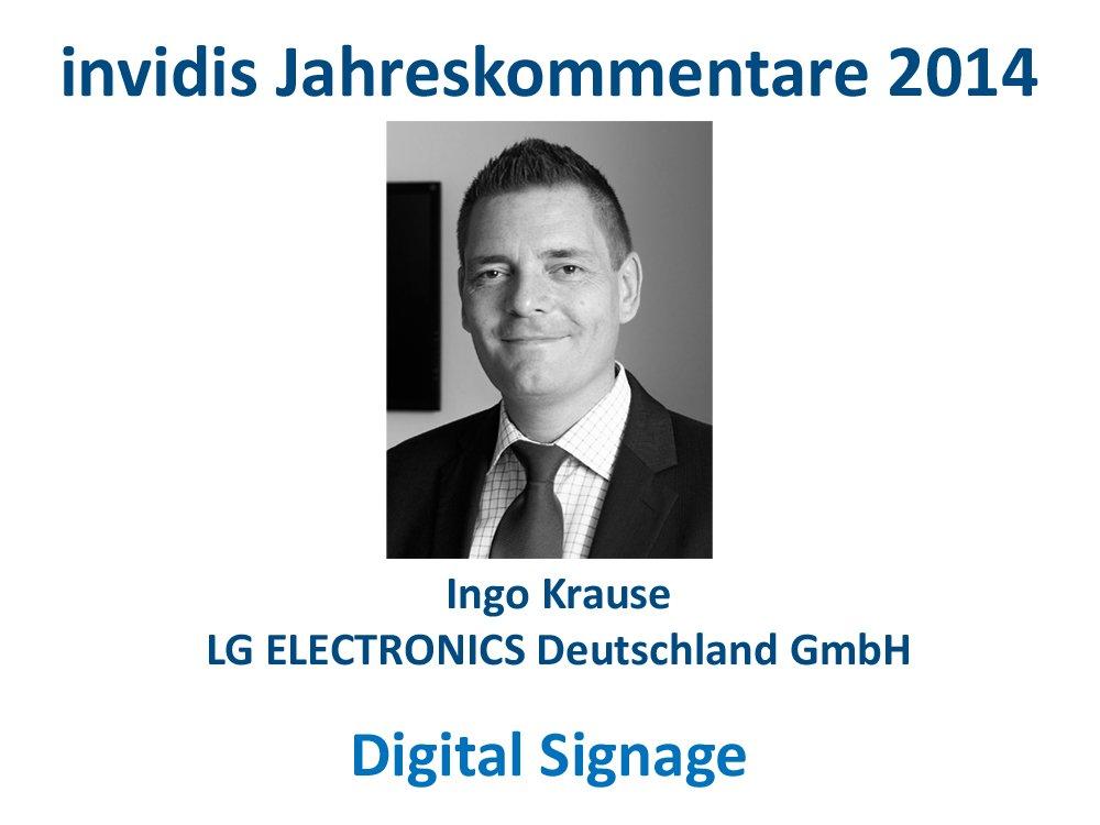 Digital Signage-Jahreskommentar: Ingo Krause, LG Electronics