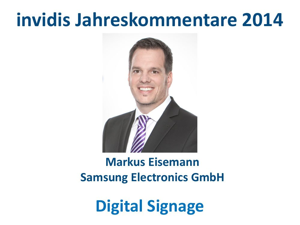 Digital Signage-Jahreskommentar 2014: Markus Eisemann, Samsung (Bild: Samsung)