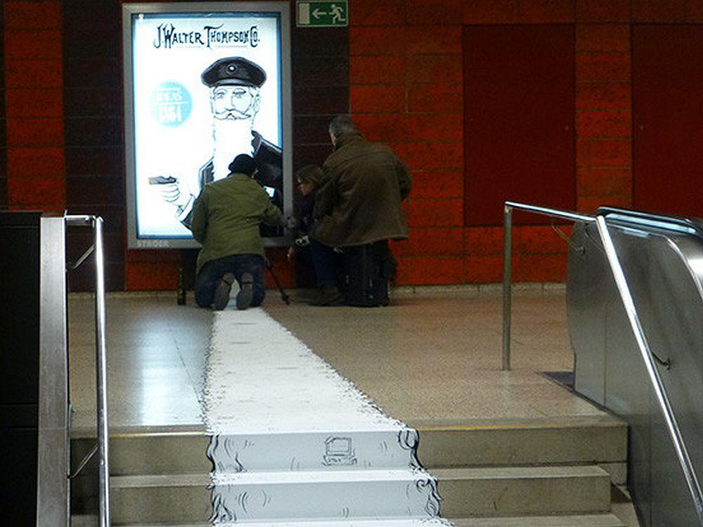 Beard of Wisdom: CLP-Installation in Frankfurt (Foto: JWT Germany)