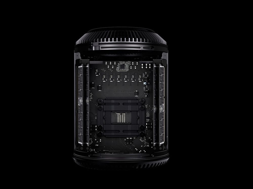 Mindstens so schön wie der Todesstern: Blick in einen Apple Mac Pro (Foto: Apple)