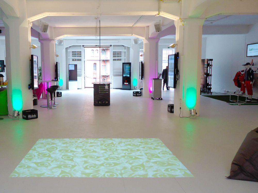 So sieht das Digital Signage Innovation Center bisher aus (Foto: Eyefactive)