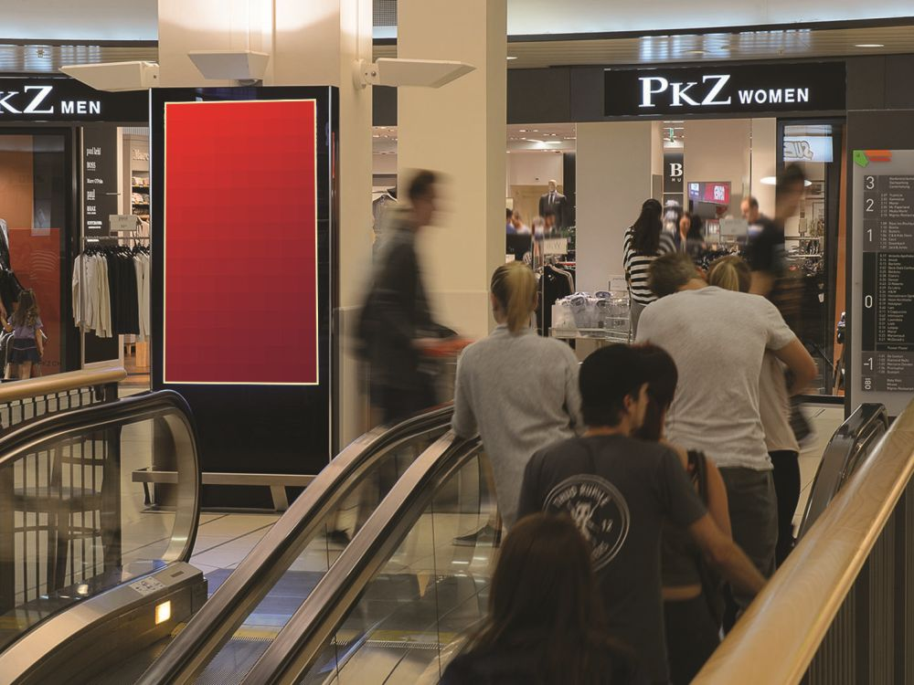 DooH-Screen in einer Schweizer Shopping Mall (Foto: APG|SGA )