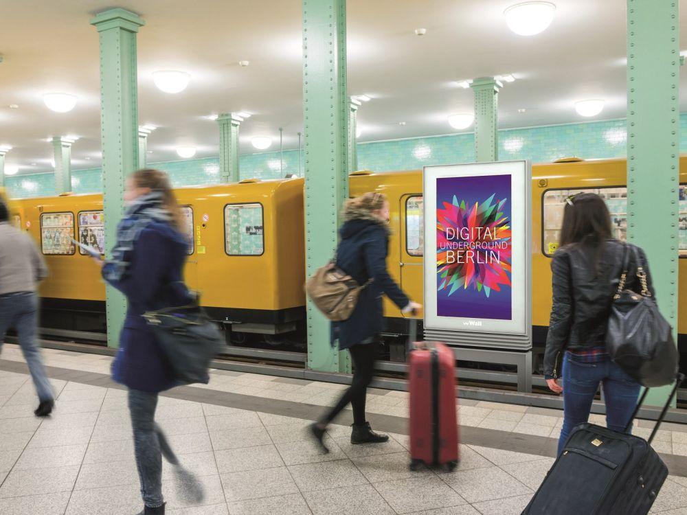DooH in Berlin: Digital Underground-Screen (Foto: WallDecaux)