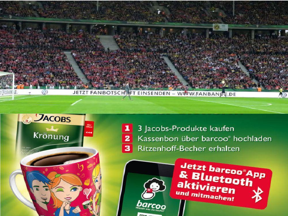Grüne Karte für Jacobs und VW: Werbe-Aktionen auf der Shortlist zum Deutschen Mediapreis 2015 (Fotos: Volkswagen; Mondelez, Montage: invidis.de)
