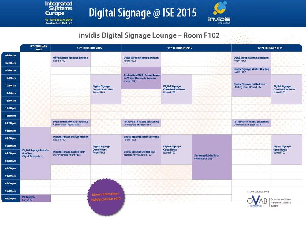 Das invidis Digital Signage-Rahmenprogramm auf der ISE 2015 (Bild: invidis)