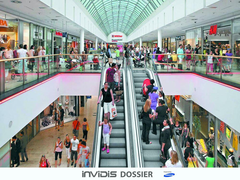 Innenansicht: Shopping Center Riem Arcaden (Foto: mfi; Grafik: invidis)