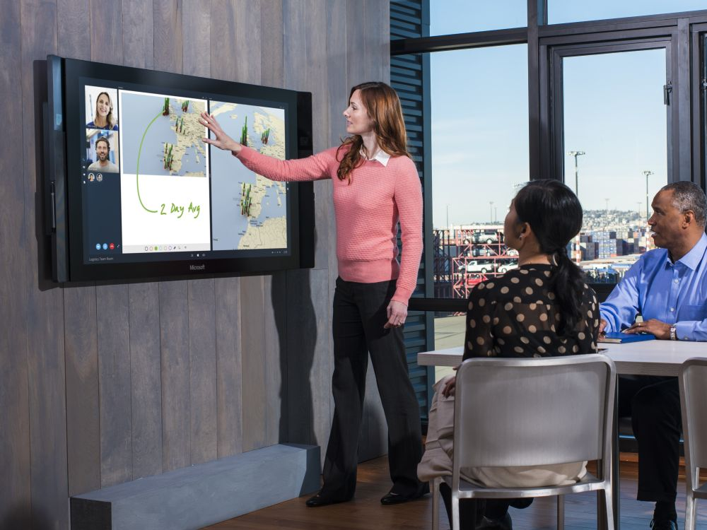 Microsoft Surface Hub: 84 Zoll Ultra HD-Display (Foto: Microsoft)