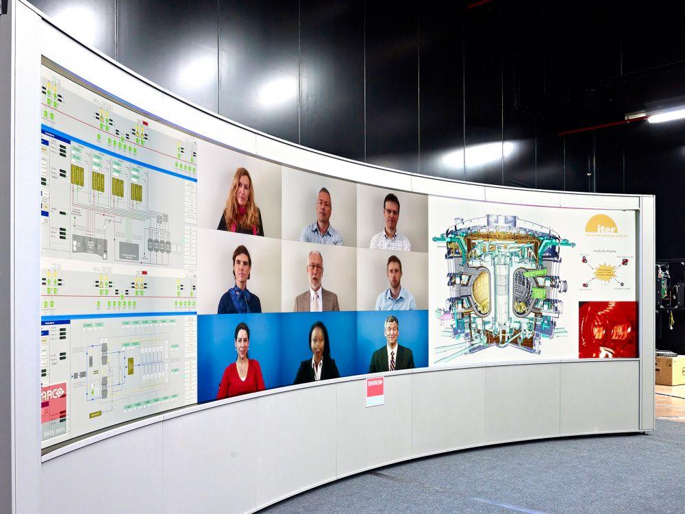 Megagroß und Bezelfrei: OSV Video Wall (Foto: Barco)