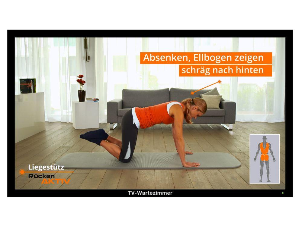 """Szene aus einem der neuen """"Rücken Aktiv""""-Spot (Foto: TV-Wartezimmer)"""