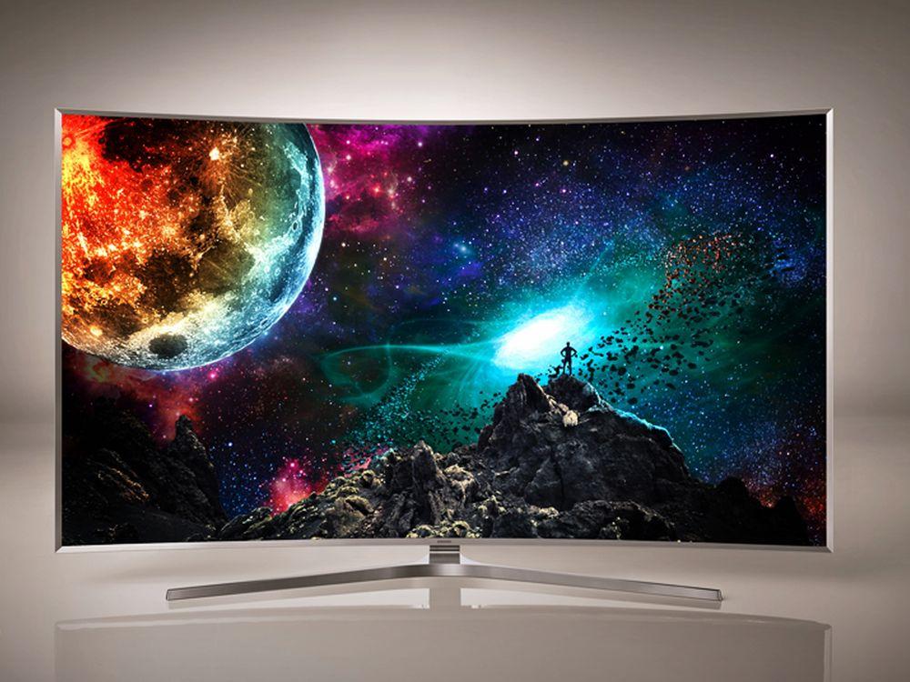 Samsung zeigt seine ersten SUHD-TVs wie das Modell JS9500 (Foto: samsung)