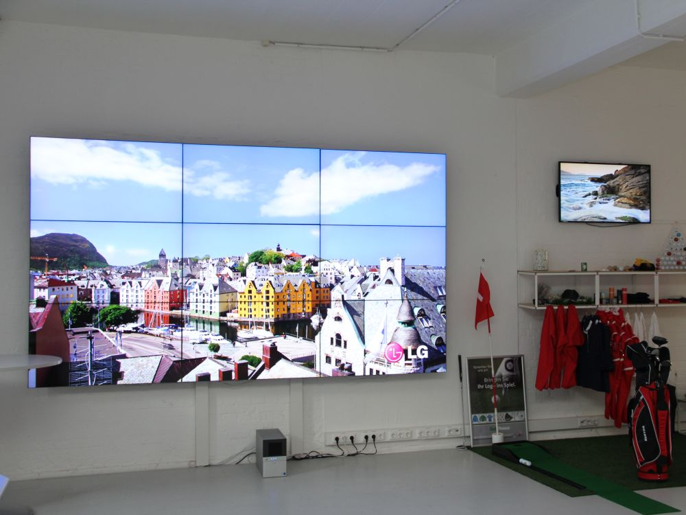 Video Wall im modernisierten Digital Signage Innovation Center (Foto: komma,tec redaction)