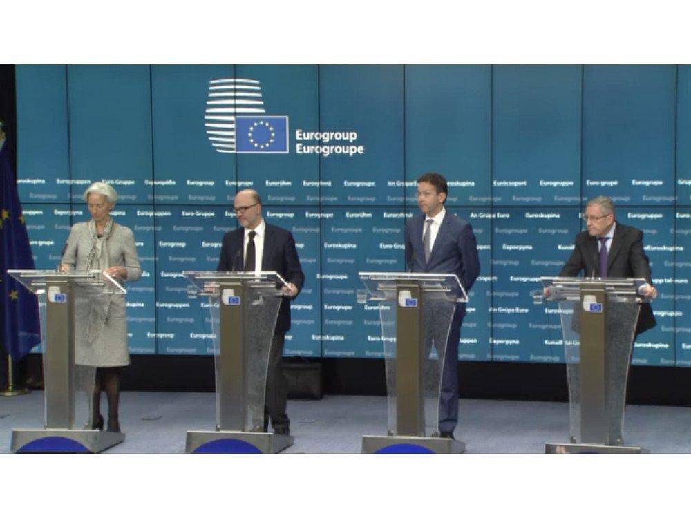 Eurogroup Pressekonferenz (Bild: Screenshot)1