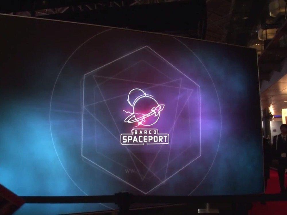 Barco Spaceport auf der ISE 2015 (Screenshot)