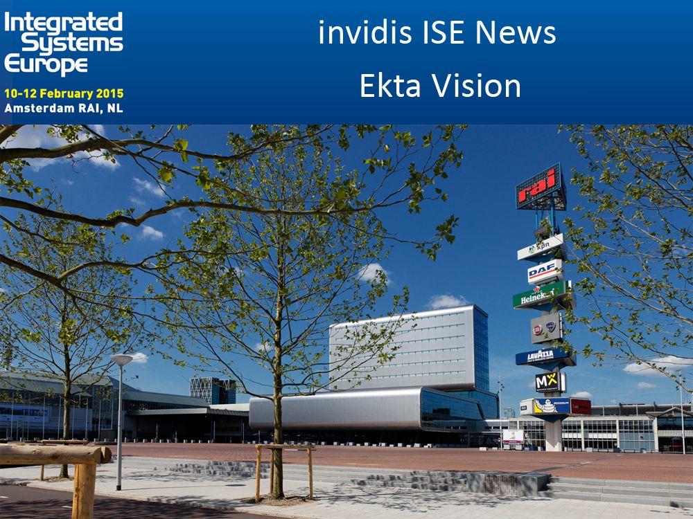 Ekta Vision zeigt Bewährtes und Neues auf der ISE 2015 (Foto: RAI; Grafik: invidis)