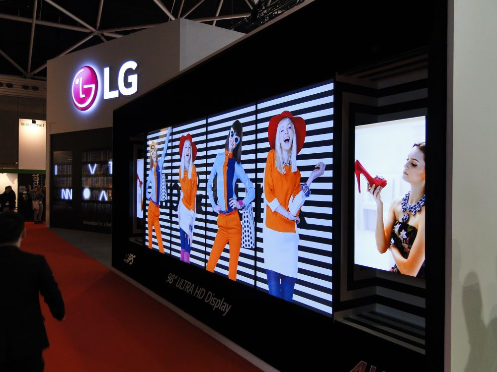 Bildergalerie vom LG Stand auf der ISE
