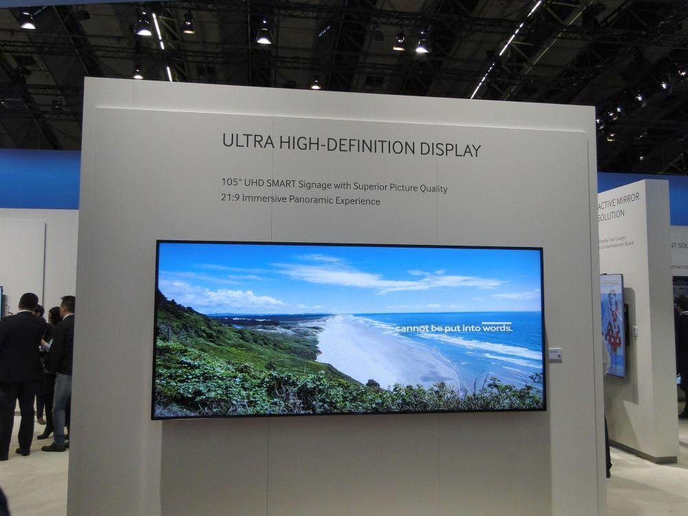 Bildergalerie vom Samsung Stand