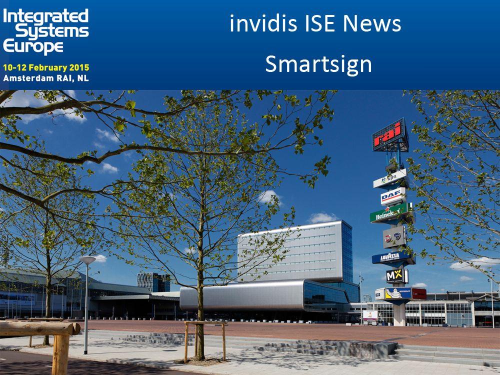 ISE 2015: Smartsign zeigt Präsenz (Foto: RAI; Grafik: invidis)