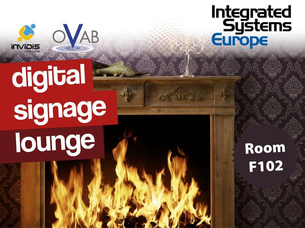 invidis digital signage lounge at ISE 2015 (Grafic: invidis)