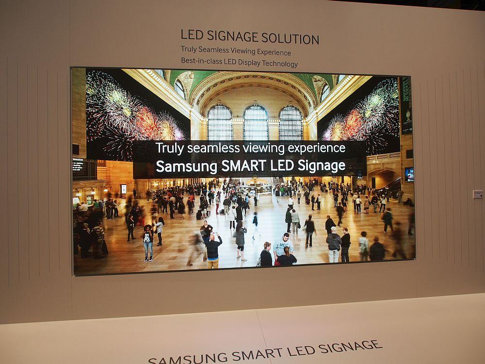 ISE 2015: Prototyp der LED Signage Solution mit 1,1mm Pixelpitch (Foto: Samsung)
