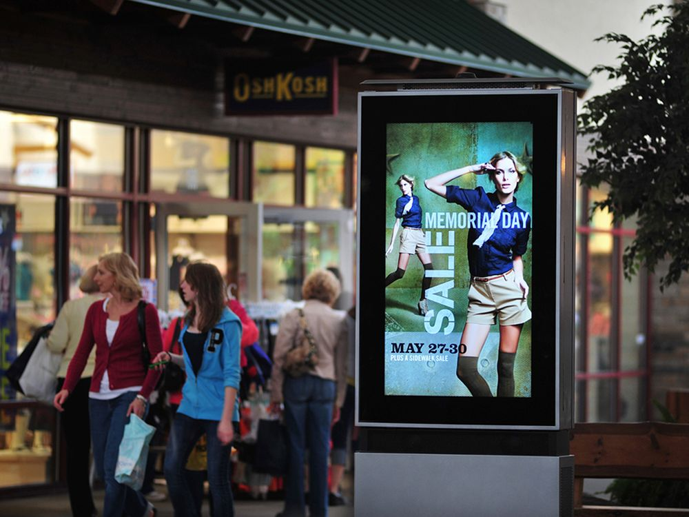 LG-MRI-Stele im Tanger Outlet Store in Wisconsion Dells (Foto: LG-MRI)