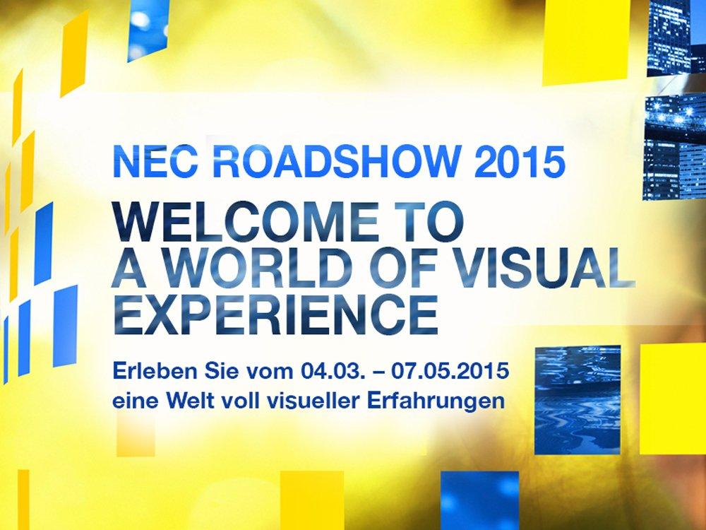 Die NEC Roadshow 2015 startet in einer Woche (Bild: NEC)
