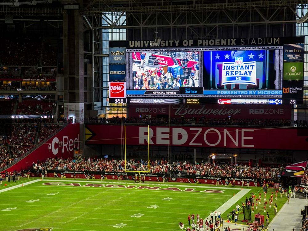 Neue Video Boards im University of Phoenix Stadium (Foto: Daktronics)