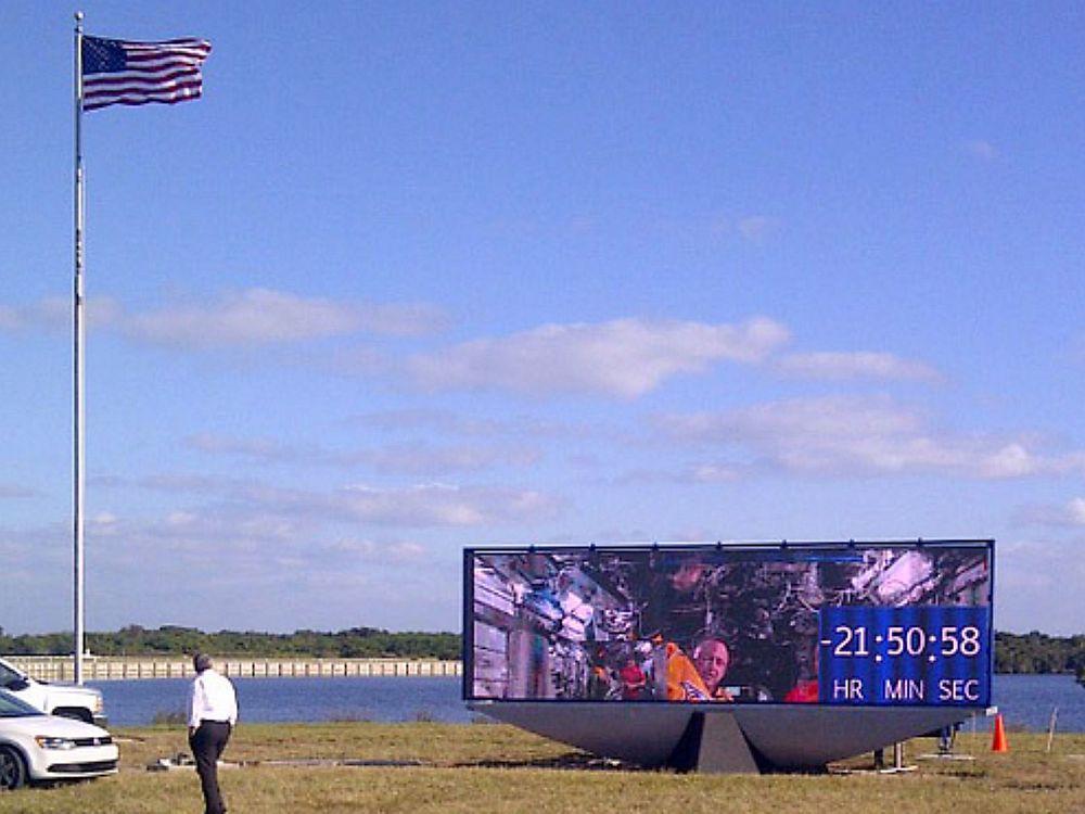 Outdoor LED Billboard der NASA am Kennedy Space Center (Foto: NASA)