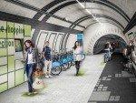 Immer diese Radfahrer: Plan für ungenutzte U-Bahntunnel in London (Rendering: Gensler)