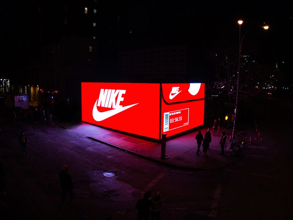 Nike Shoe On Street