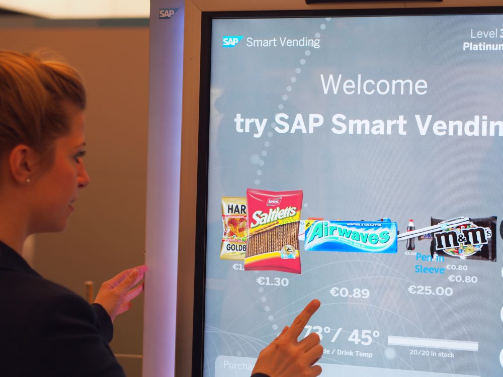 Herz: SAP, Korpus: VE Connect - SAP Smart Vending Machine (Foto: invidis)